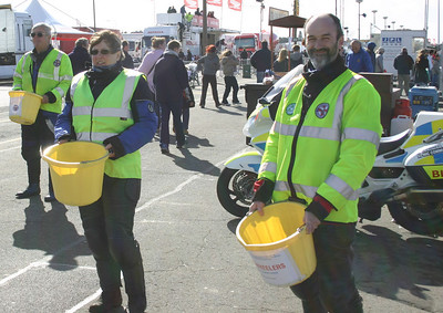 NABB volunteers collecting money to pay for the service they offer